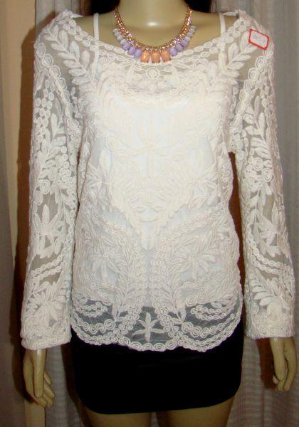 blusa renda transparente   loja de maheboutike